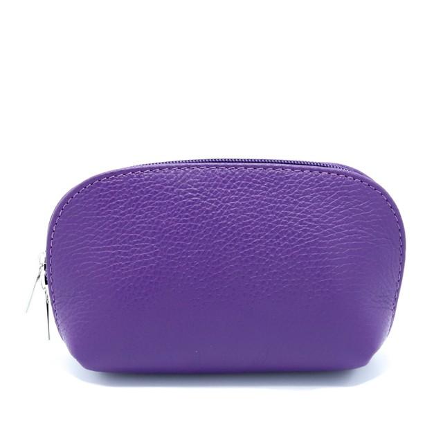 イタリア製 化粧ポーチ バッグインバッグ 紫・ライトパープル・ボルドー
