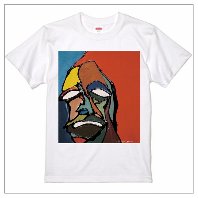 プレミアム印刷 - Tシャツ / face-001