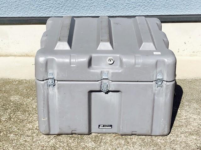 品番0352 軍箱 米軍 強化プラスチックスボックス グレー ケース 箱 コンテナ ヴィンテージ