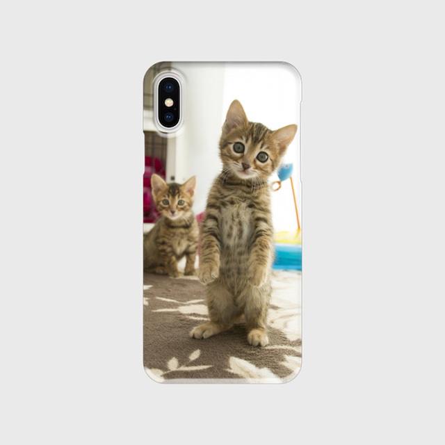飛び猫の手帳型iphoneスマートフォンケース/アンドロイドケース【送料無料】