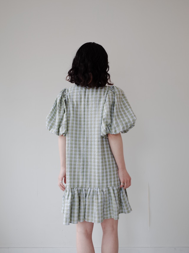 【GHOSPELL】Dawn Check Mini Dress