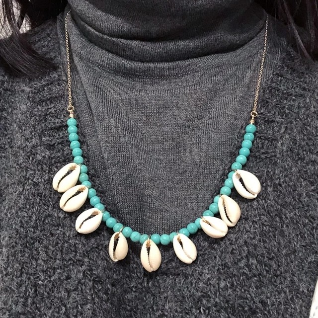 【FlamingoBeach】shell necklace シェルネックレス
