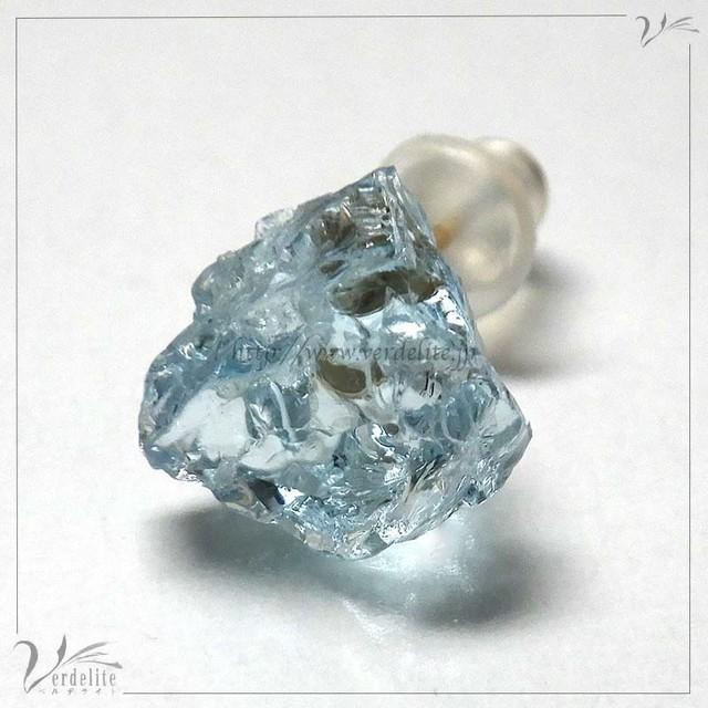 モルガナイト原石ピアス K10PE10