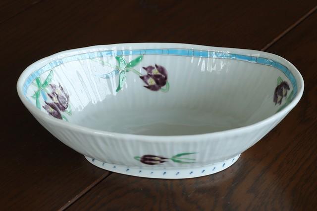 藍水 黒百合 楕円鉢 うつわ藍水 波佐見焼