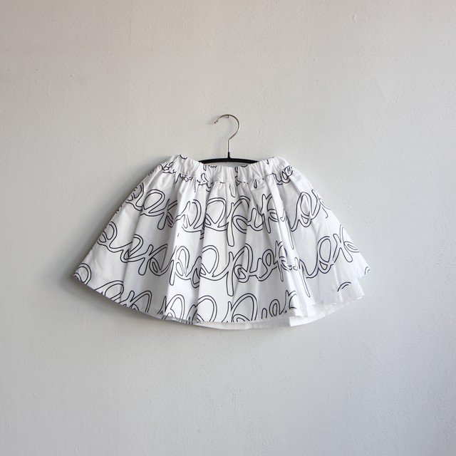 《frankygrow 2020AW》POP AIRY SKIRT / white × black / S・M・L