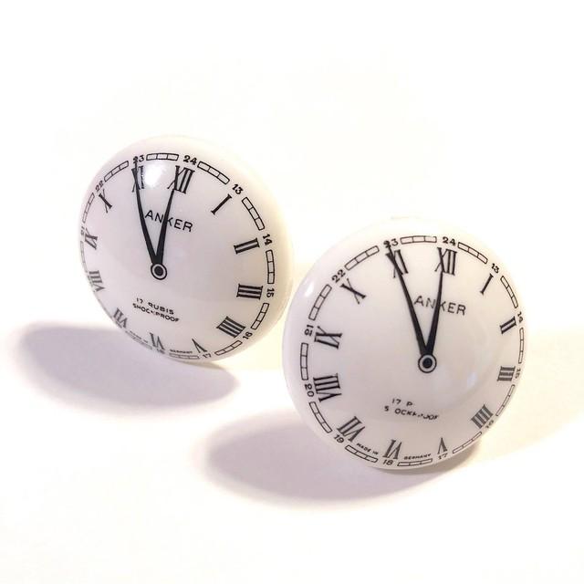 ドイツヴィンテージイヤリング 時計
