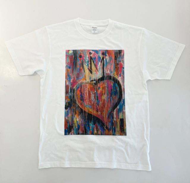Miiie  オリジナルTシャツ「ハートのキング」