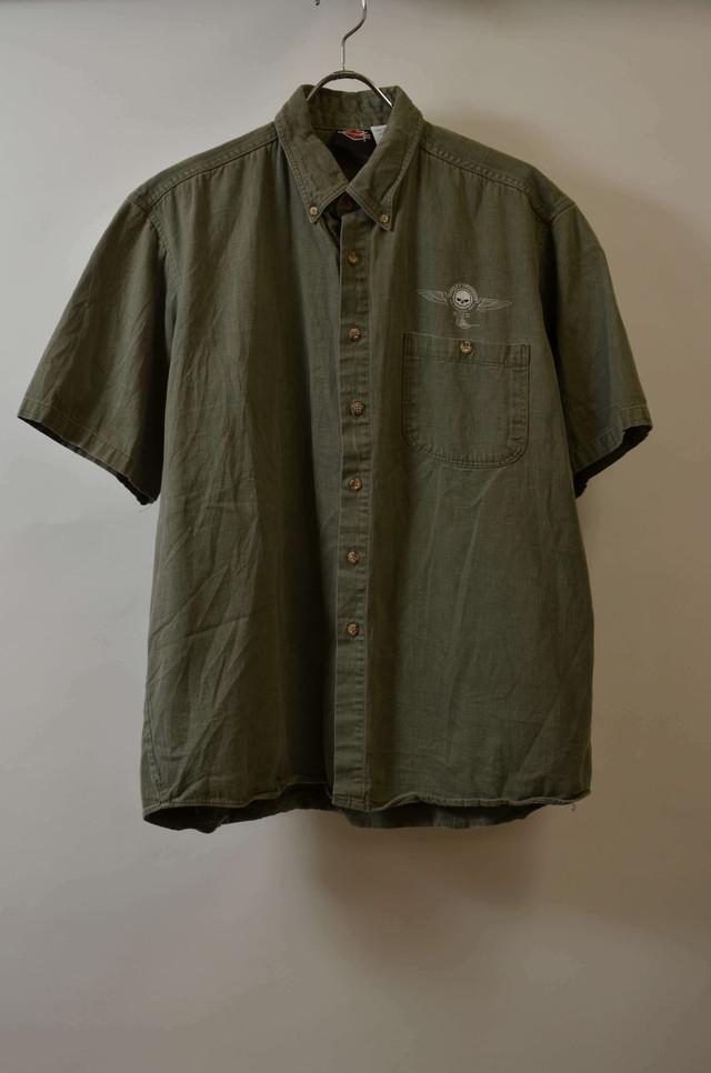 【XLサイズ】 HARLEY DAVIDSON SS SHIRTS 半袖シャツ GREEN 400602190753