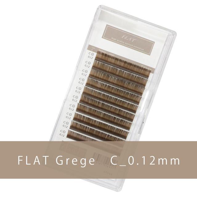 グレージュ フラットラッシュ C_0.12mm