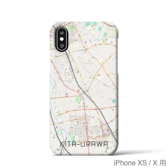 【北浦和】地図柄iPhoneケース(バックカバータイプ・ナチュラル)
