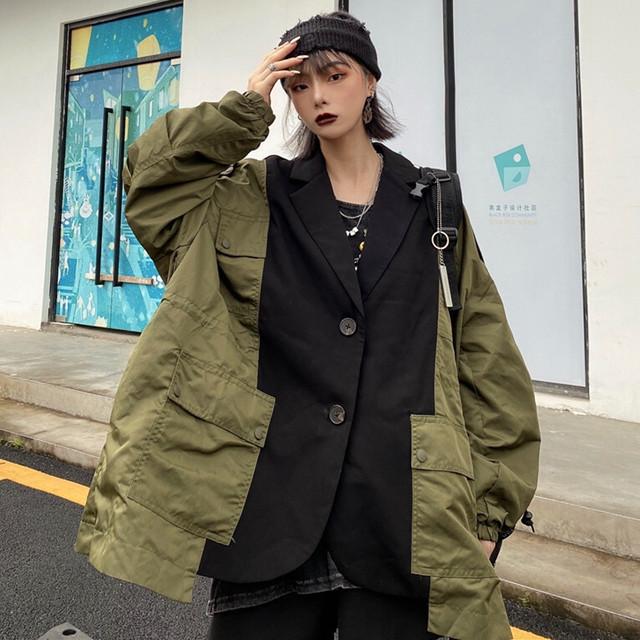 【アウター】プリントストリート系ファッションカジュアル春秋スーツジャケット42221351
