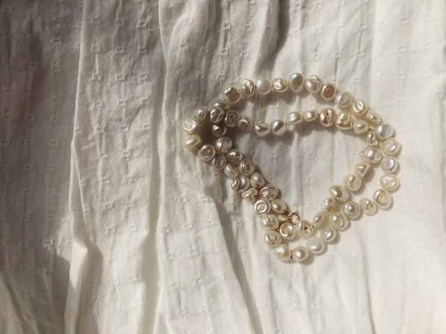 Cornflake pearl necklace コーンフレークネックレス