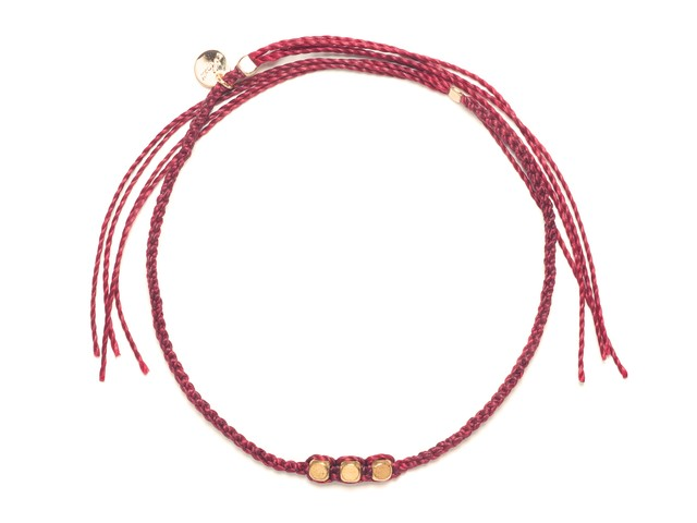 Brass Beads Misanga/Red&Coral(Gold/Silver) (Bracelet/Anklet)[真鍮ビーズミサンガ]