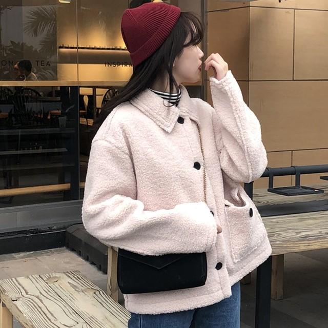 【outer】女の子の印象お洒落a厚くてコート