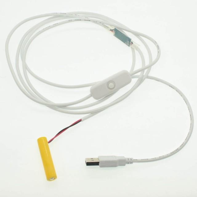 単3電池形ACアダプター接続ケーブル 50cm これで電池交換を不要に! [A-5521-AABAT-50cm]