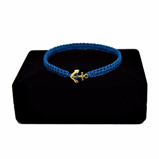 【無料ギフト包装/送料無料/限定】K18 Gold Anchor Bracelet / Anklet Blue【品番 17S2010】