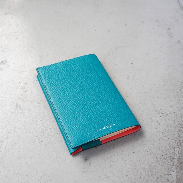 BOOK COVER(文庫サイズ)ターコイズ × ピンクオレンジ