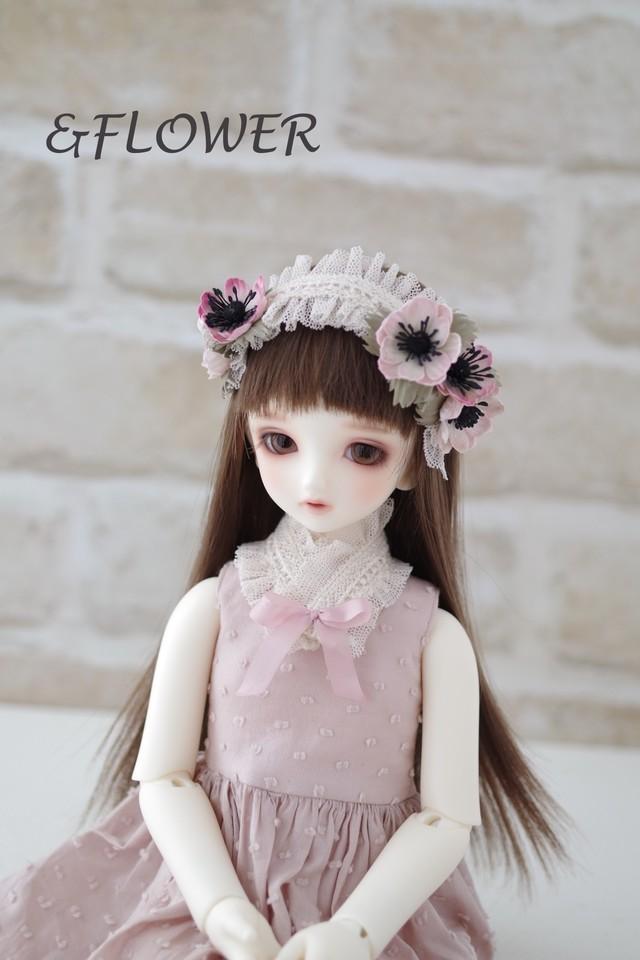 40cmサイズドール用ヘッドドレス(アネモネ)