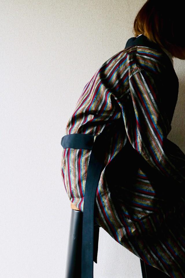 Vintage multi stripe smoking gown