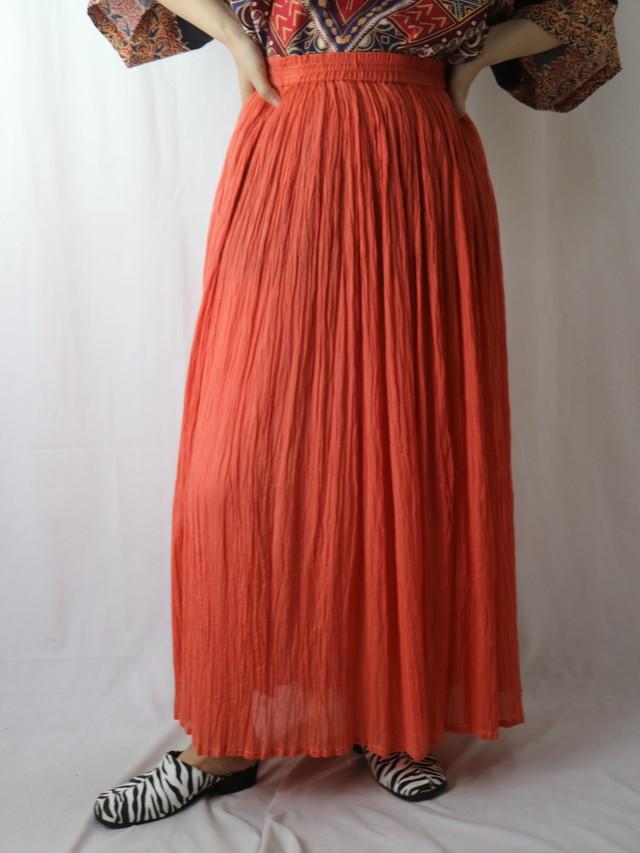 gather sheer skirt【5719】