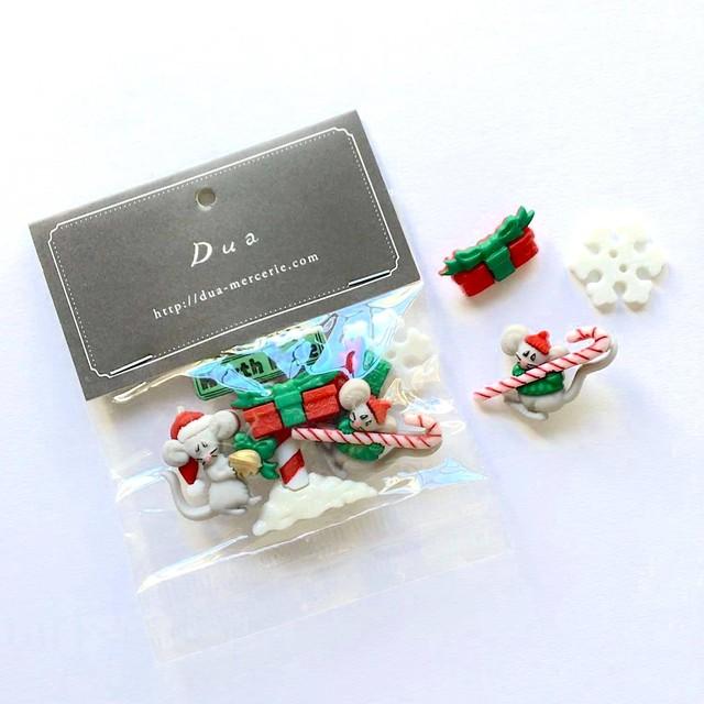 JJボタン クリスマスネズミボタンパック
