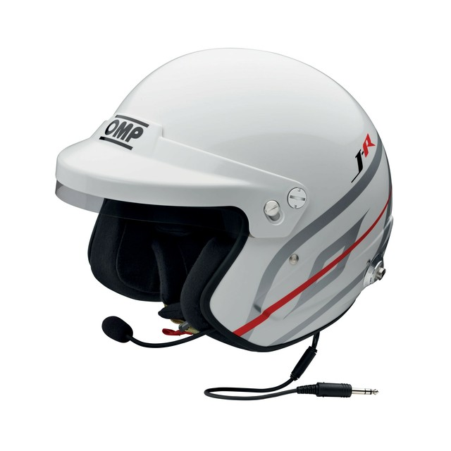 SC798 J-R HANS INTERCOM CASCO JET WHITE