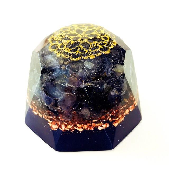 ダイヤモンド型オルゴナイト・97~アイオライト~