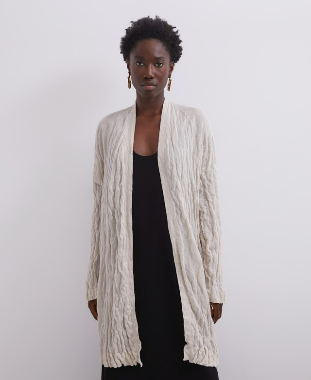 EXTRA-LONG CRINKLED MODAL JACKET [252101631302]