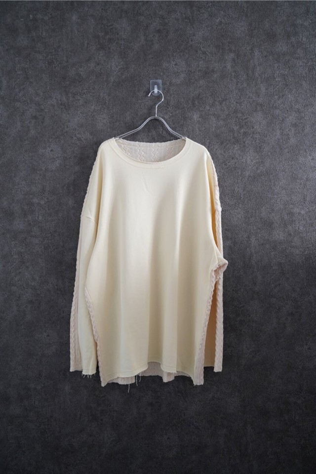 ℃℃℃ Front and back Switch knit White