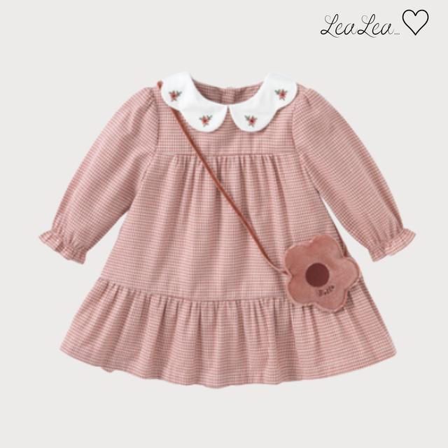 dave&bella2021AW新作♡チェック襟付きワンピース(73cm-140cm)| LeaLea...♡(レアレア)-海外の子供服セレクトショップ