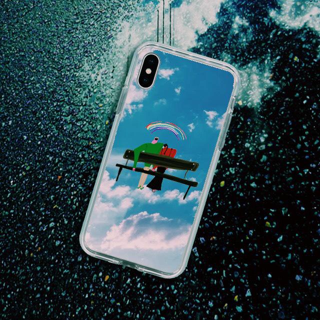 【iPhone11/11pro対応】虹色の日々ミラーケース
