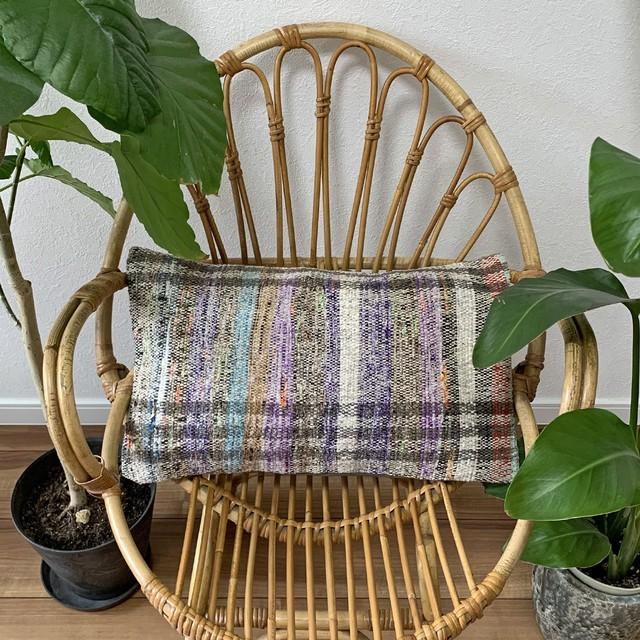 手織り キリム クッション 長方形 C035