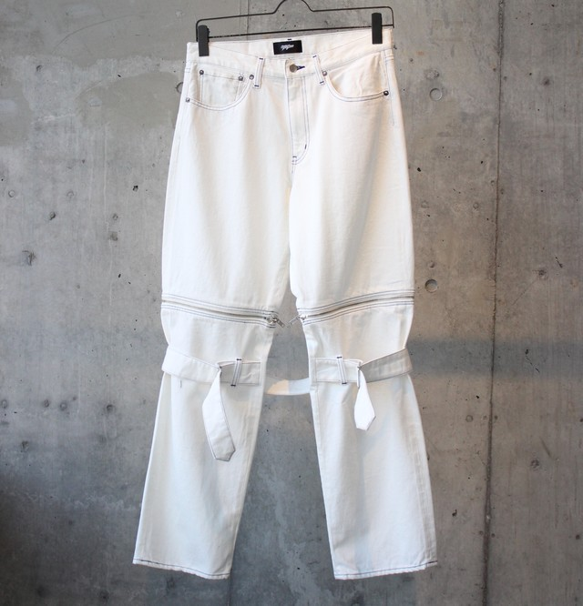 DENIM BONTAGE PANTS / WHITE - メイン画像