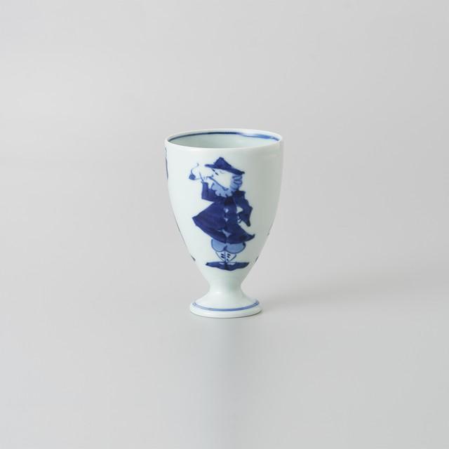 """【青花】""""三人異人"""" フリーカップ[小]"""