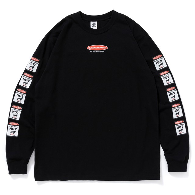 BLACK EYE PATCH / DANGER HOT LABEL L/S TEE