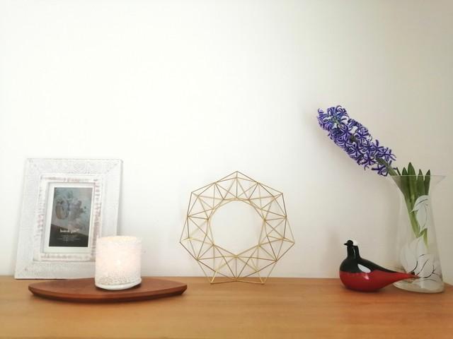 1年中飾れる真鍮製のヒンメリ リース L(直径33cm)お花なし