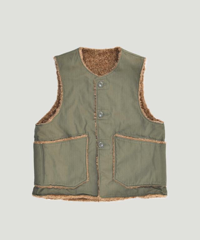Engineered Garments EG Over Vest Olive  FG196