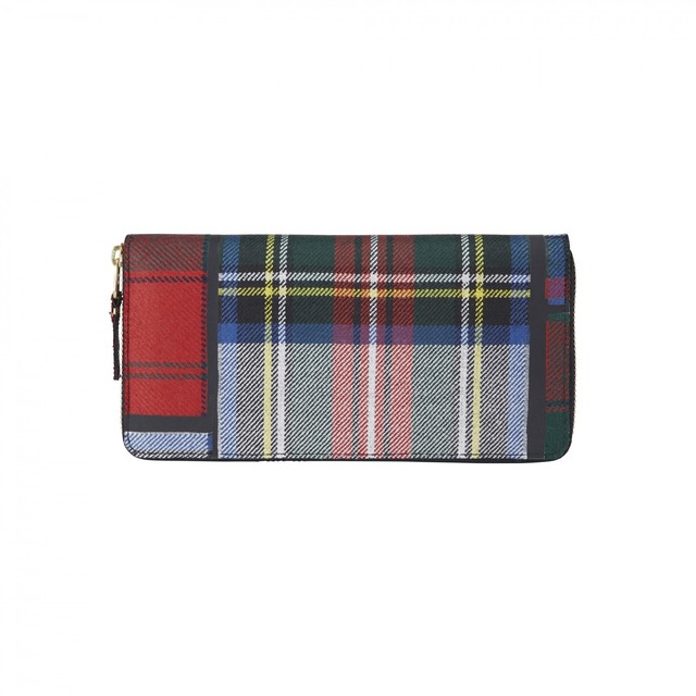 WALLET COMME des GARCONS【ウォレットコムデギャルソン】Tartan Patchwork Coin Case (GREEN)