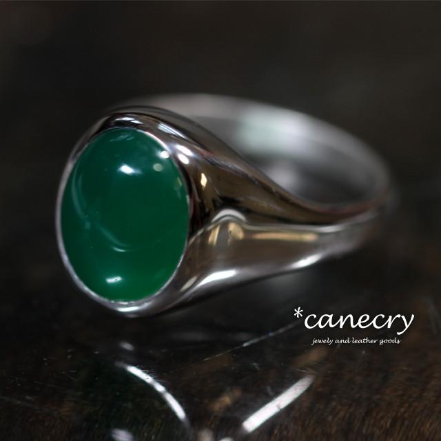 グリーンメノウのリング
