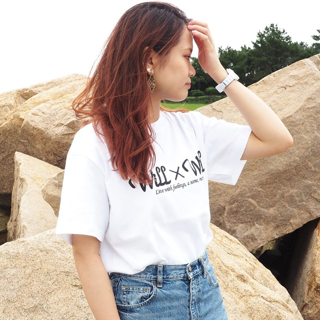 Will×Will Logo T-shirts WHITE