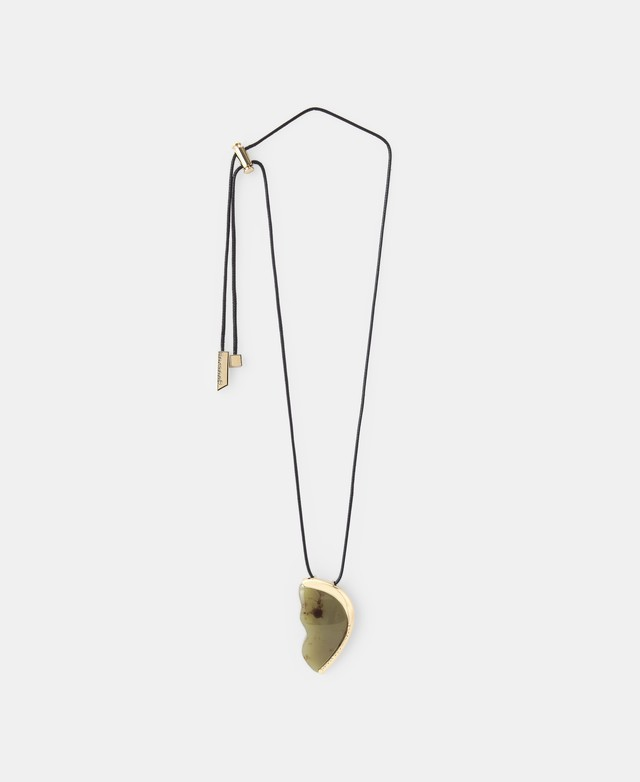 LONG METAL AND RESIN NECKLACE [22652185720102]