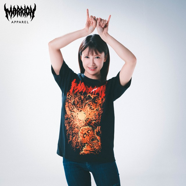 【Cotton100%】LIVING DEAD MARRION (Red×Orange)