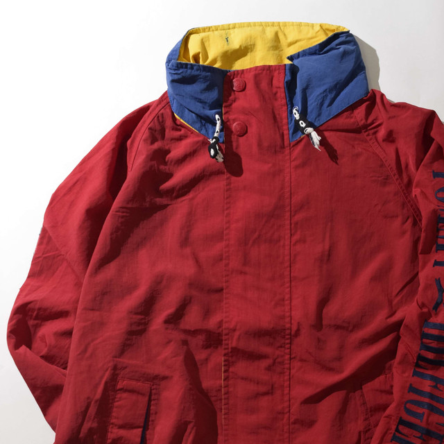 【Lサイズ】TOMMY HILFIGER トミーヒルフィガー NYLON JKT ナイロンジャケット RED レッド L 400610190928