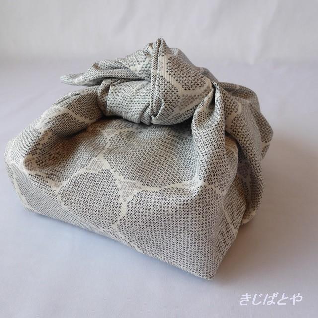 あずま袋 白鼠色に石畳