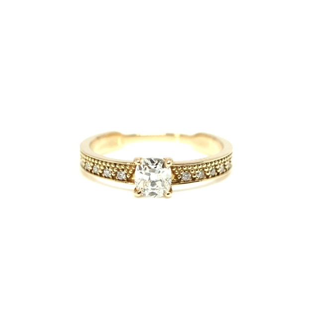 Oldcut oval dia ring - 0.454ct G SI2