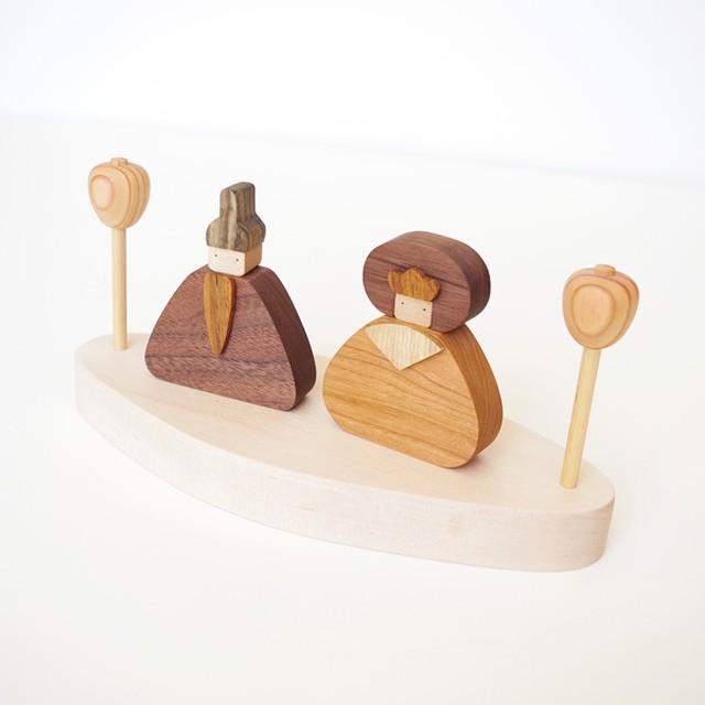 木製ひな人形