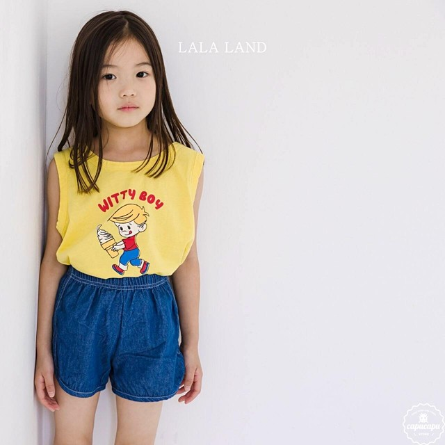 «sold out» LALA LAND witty boy sleeveless 3colors ウィッティーボーイノースリーブ