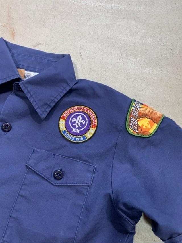 (4586)VINTAGE 90'S ボーイスカウトシャツ 150cm