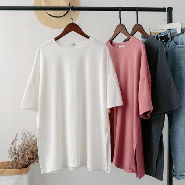 ◆即納◆ 2019SS サイドスリット入り Tシャツ c119
