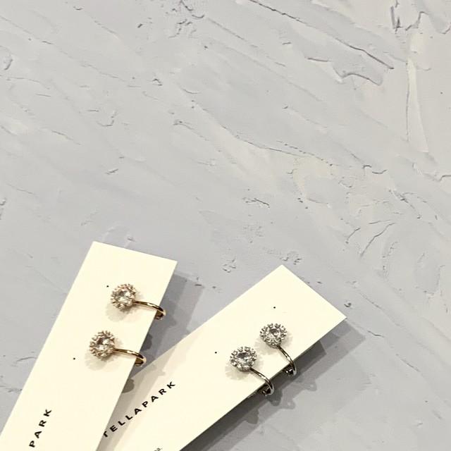Petite drop earrings  プチドロップイヤリング CZ  #SP0139 【STELLAPARK】
